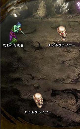 3回目。左へ分岐したメンバーのみ。 スカルフライアー×2 呪われた死者