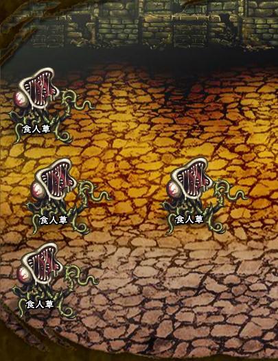 7回目。右分岐後さらに右へ分岐したメンバーのみ。 食人草×4