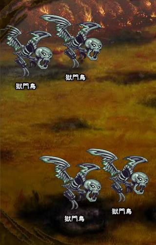 6回目。右へ分岐したメンバーのみ。 獄門鳥×4