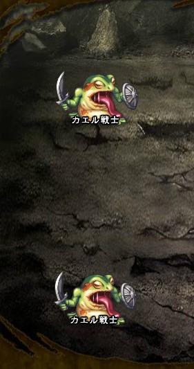 5回目。左分岐後さらに右へ分岐したメンバーのみ。 カエル戦士×2
