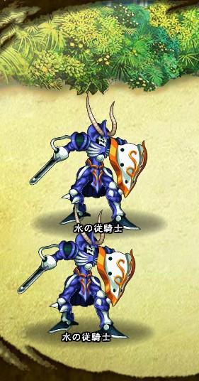 2回目。 水の従騎士×2