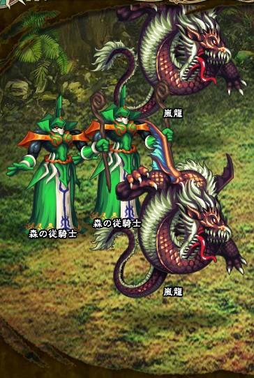 8回目。最終バトル。 嵐龍×2 森の従騎士×2