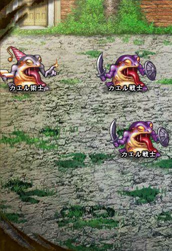 4回目。左分岐後さらに左へ分岐したメンバーのみ。 カエル戦士×2 カエル術士