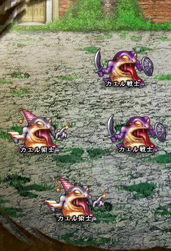 6回目。左分岐後さらに左へ分岐したメンバーのみ。 カエル戦士×2 カエル術士×2