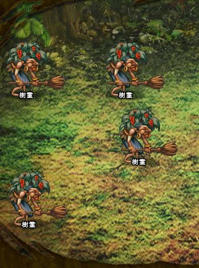 7回目。左分岐後さらに左へ分岐したメンバーのみ。 樹霊×4