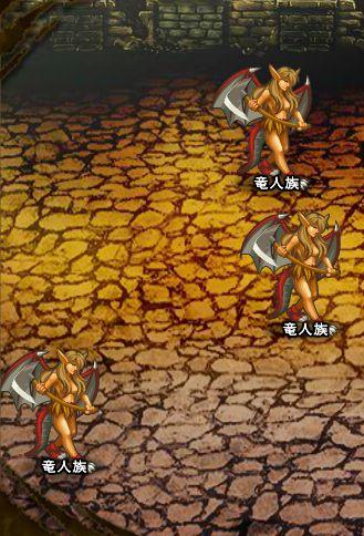 4回目。左へ分岐したメンバーのみ。 竜人族×3