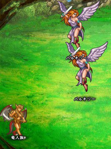 4回目。右分岐後さらに右へ分岐したメンバーのみ。 バルキリー×2 竜人族