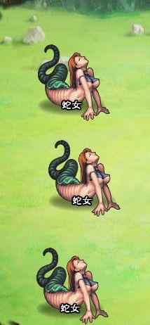 4回目。左分岐後さらに右へ分岐したメンバーのみ。 蛇女×3