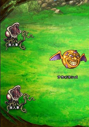 3回目。全員で戦闘。 フライマンバ 食人草×2