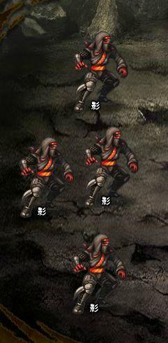 6回目。左へ分岐したメンバーのみ。 影×4