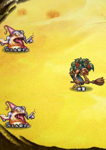 5回目。右分岐後さらに左へ分岐したメンバーのみ。 樹霊 カエル術士×2
