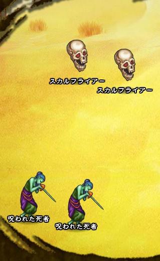 3回目。右へ分岐したメンバーのみ。 スカルフライアー×2 呪われた死者×2